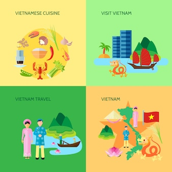 Vietnamese national cuisine culture and sightseeing for travelers