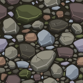 View from above cartoon colors stone texture, seamless background