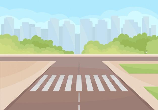 Вид на транспортную развязку с пешеходным переходом