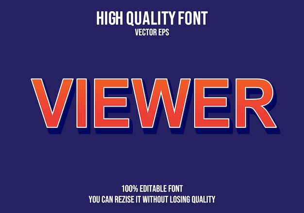 Viewer  editable text effect