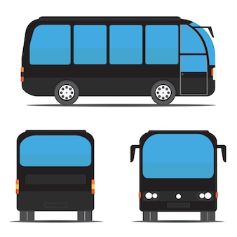 Views of black bus