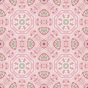 Viintage geometric tiles bohemian ethnic seamless pattern