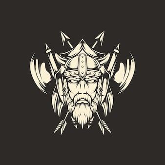 バイキングの斧のエンブレム