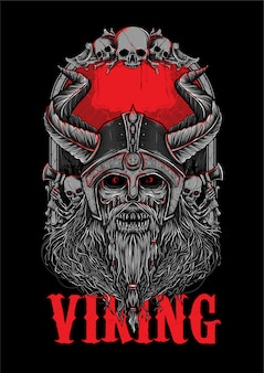 Viking corpse bone zombie illuastration
