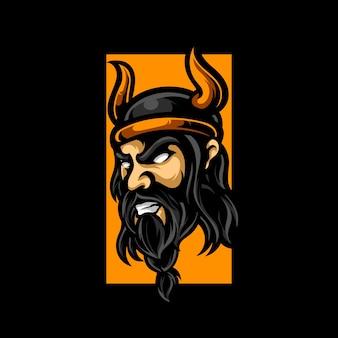 Логотип талисмана viking e sport