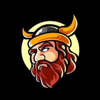 Viking e sport mascot logo