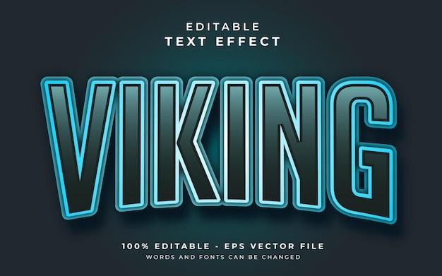 Viking editable text effect