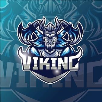 Viking esport design logo