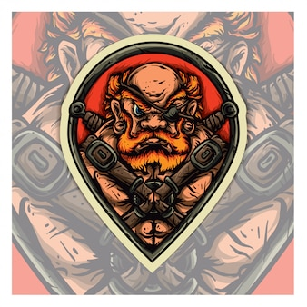 Viking esport logo mascot