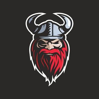 Viking head illustration vector