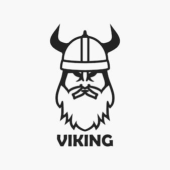 ヘルメットのバイキングヘッドエンブレムの服のtシャツテンプレートのロゴデザインプリント