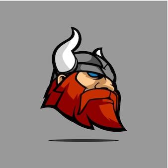 Viking head mascote