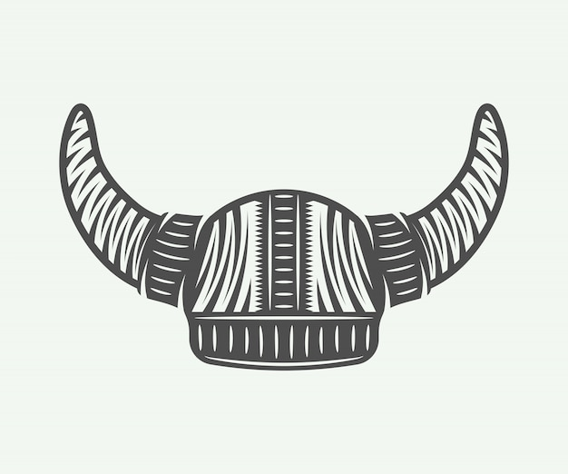 Viking helm Premium Vector