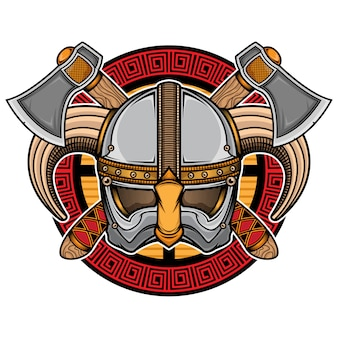 Viking helmet logo