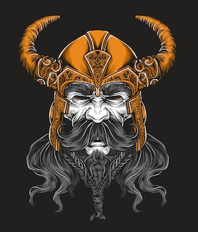Viking king vector