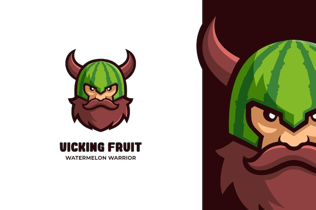 Viking man warrior e-sport mascot logo