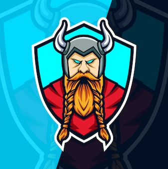 Viking mascot esport logo design