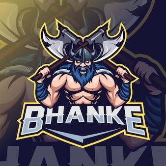 Viking mascot esport logo
