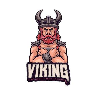 バイキングのマスコットのロゴ。