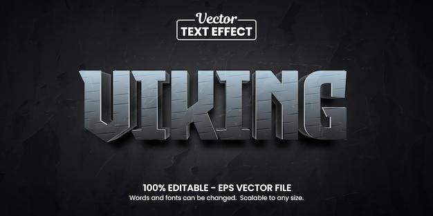 Viking metal, editable text effect