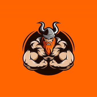 Viking muscles illustration character