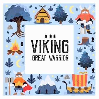 Viking print or square greeting card