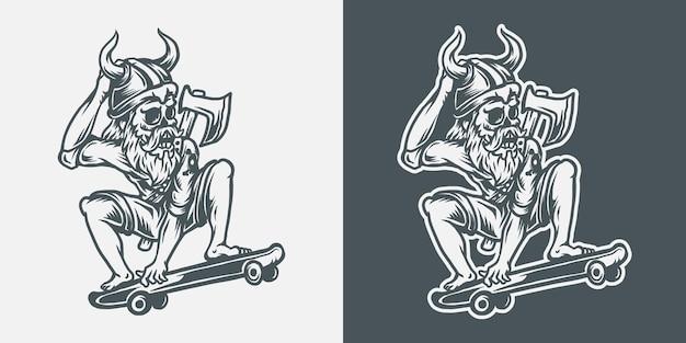 Скейтборд викинг