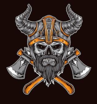 Viking skull vector
