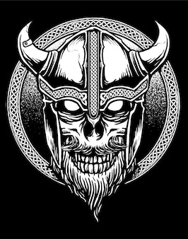 バイキングの頭蓋骨のベクトル