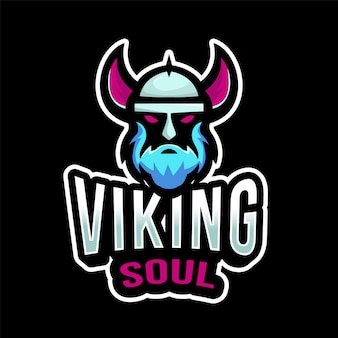 Шаблон логотипа viking soul esport