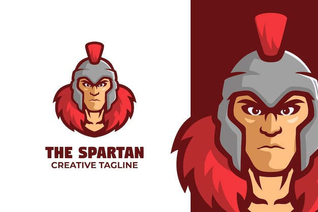 Викинг спартанский талисман логотип иллюстрации