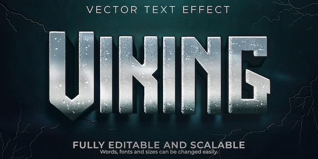 Viking text effect, editable nordic and norseman text style