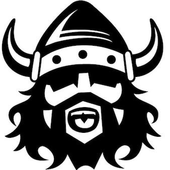 Viking with helmet vector illustration