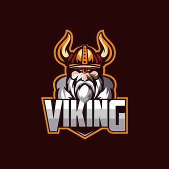 Шаблон логотипа viking