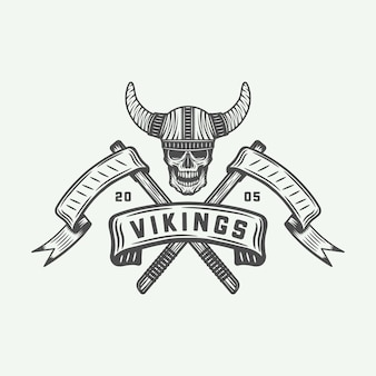 Vikings logo, label
