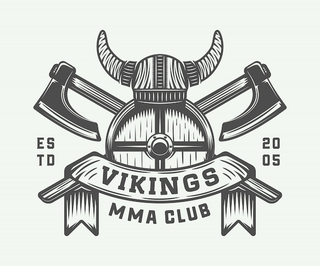 Vikings motivational logo