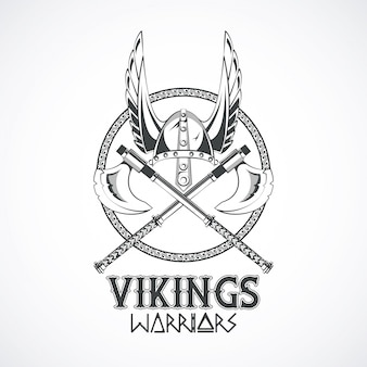 ヴァイキング戦士のプリントtシャツ