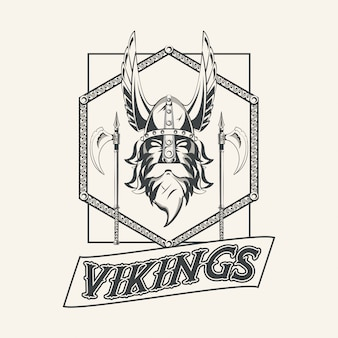 Vikings warriors printed tshirt