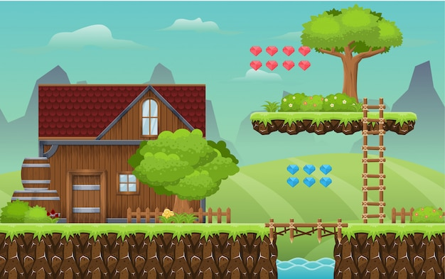 Village game tileset