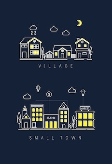 Village and small town