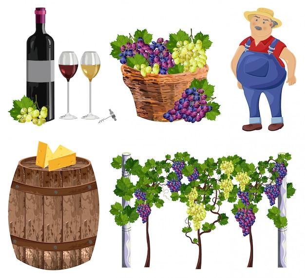Vineyard set collection