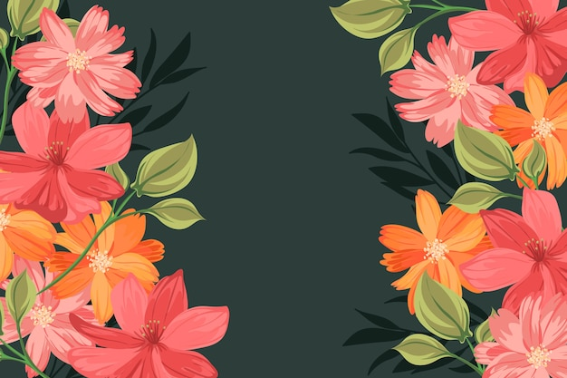 Vintage 2d flowers background