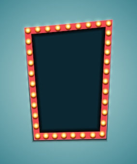 Vintage 3d light retro frame