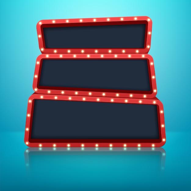 Винтаж 3d светлая ретро рамка.