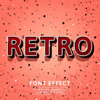 Vintage 3d retro title text effect