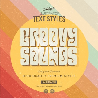 Vintage 60s and 70s text style