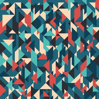 Vintage abstract geometric background with triangles.