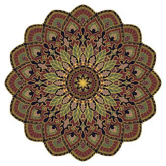 Vintage abstract mandala. indian  element.
