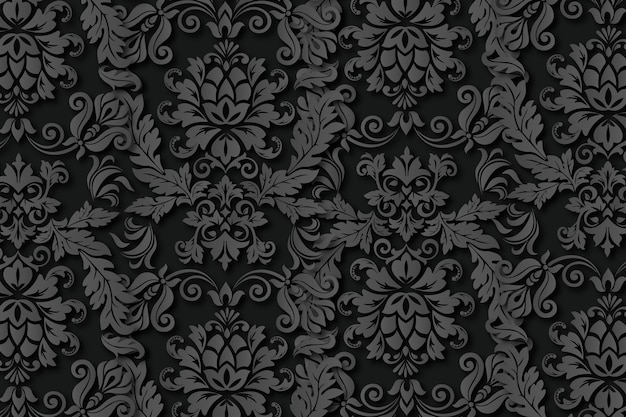 Vintage abstract ornamental flowers background