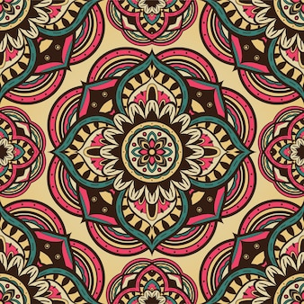 Vintage abstract pattern with mandalas.